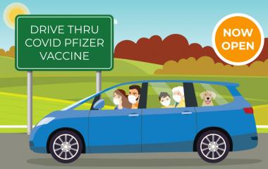 Covid-Pfizer Vaccine Drive Through